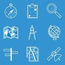 81352,Connection,Magnifying Glass,Blueprint,Jenson Button,Sign,Illustration,Student,Symbol,Education,Web Page,Vector,Single Object,Blue