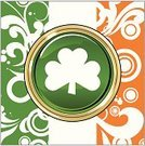 Irish Flag,Republic of Ireland,St. Patrick's Day,Sign,Irish Culture,Clover,Celtic Culture,Northern Ireland,Scroll Shape,Holidays And Celebrations,Ornate,Green Color