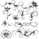 Tattoo,Flower,Floral Pattern,Design,Pattern,Swirl,Design Element,Vector,Black Color,Ornate,Abstract,Scroll,Deco,Scroll Shape,Set,Decoration,Variation,Plant,Beautiful,Collection,Beauty In Nature,Spiral,Ilustration,Shape,Leaf,Part Of,Vector Florals,Vector Ornaments,Nature Abstract,Illustrations And Vector Art,White Background,No People,Nature