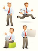 Men,Characters,Businessman,Running,Business,Sales Occupation,Vector,Sitting,Set,Cheerful,Laptop,Thumbs Up,Working,Presentation,Intelligence,Office Worker,Gesturing,Sales Clerk,Sign,Well-dressed,Showing,File Clerk,Assistance,Neat,Business,Copy Space,Illustrations And Vector Art,Business People,Vector Cartoons