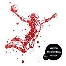 Adults Only,Adult,60983,60013,Abstract,Motion,Men,Only Men,Males,One Man Only,Silhouette,One Person,Activity,Basketball Hoop,Ball,Illustration,People,Sport,Basketball - Ball,Sportsperson,Athlete,Basket,Playing,Basketball - Sport,Vector,Jumping,Red,White Color
