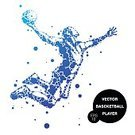Adults Only,Adult,60983,60013,Abstract,Motion,Men,Only Men,Males,One Man Only,Silhouette,One Person,Activity,Basketball Hoop,Ball,Illustration,People,Sport,Basketball - Ball,Sportsperson,Athlete,Basket,Playing,Basketball - Sport,Vector,Jumping,Blue,White Color
