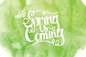 Spring Is Coming,Abstract,Creativity,No People,Calligraphy,Ornate,Template,Blob,Summer,Illustration,Nature,Image,Backgrounds,Typescript,Vector,Multi Colored,Spotted