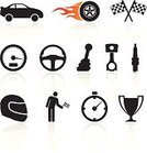 Car,Symbol,Sports Race,Motorsport,Computer Icon,Piston,Work Helmet,Speed,Competition,Steering Wheel,Speedometer,Trophy,Wheel,Auto Racing,Spark Plug,Checkered Flag,Flame,Flag,Winning,Fire - Natural Phenomenon,At The Edge Of,Indy Racing League,Black And White,Set,Ignition,Sports Helmet,Success,Stick Figure,Simplicity,Competitive Sport,Land Vehicle,White Background,Empty