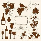 Grape,Vine,Wine Bottle,Food,Silhouette,Vector,Leaf,Frame,Ilustration,Champagne,Outline,Decoration,Fruit,Computer Graphic,Drink,Branch,Swirl,Cultures,Winemaking,Ornamental Garden,Ornate,Jug,Vase,Elegance,Pitcher,Nature,Collection,Set,Contour Drawing,Brown,Decor,Alcohol,Celebration,Season,Beauty In Nature,Plants,Fruits And Vegetables,Alcohol,Nature,Beige,Food And Drink