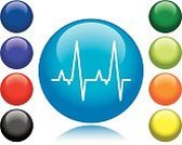 Pulse Trace,Intensive Care Unit,Symbol,Computer Icon,Healthcare And Medicine,Doctor,Medical Exam,Vector,Life,Shiny,Purple,Design Element,Circle,Orange Color,Black Color,Medicine,Blue,Green Color,Red,Death,Concepts And Ideas,Illustrations And Vector Art,Interface Icons,Vector Icons,Medicine And Science,Yellow,Design