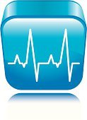 Pulse Trace,Intensive Care Unit,Computer Icon,Symbol,Doctor,Three-dimensional Shape,Medical Exam,Healthcare And Medicine,Life,Vector,Death,Medicine,Blue,Shiny,Interface Icons,Square Shape,Medicine And Science,Vector Icons,Illustrations And Vector Art,Design,Design Element,Concepts And Ideas