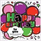 No People,Pop Art,Graffiti,Congratulating,Illustration,Birthday,Backgrounds,Lifestyles,Vector,Greeting,Spotted