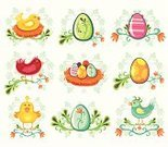 Easter,Animal Nest,Candy,Young Bird,Flower,Baby Chicken,Eggs,Cartoon,Passover,Chicken - Bird,Symbol,Decor,Bird,Easter Egg,Animal Egg,Icon Set,Branch,Vector,Floral Pattern,Holiday,Cute,Tropical Bird,Greeting,Computer Icon,Green Color,Colors,Animals And Pets,Holidays And Celebrations,Birds,Easter,Nature,Paint,Illustrations And Vector Art,Vector Icons,Isolated On White,Painted Egg,Copy Space,Color Image,Springtime