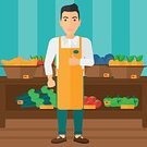 One Person,Cartoon,Vegetable,Illustration,People,Business Finance and Industry,Food,Flat,Fruit,Plan,Plan,Business,Merchandise,Vector,Design,Occupation