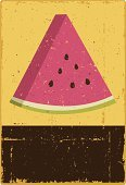Fruit,Watermelon,Woodcut,Retro Revival,Old-fashioned,Rustic,Distressed,Grunge,Melon,Crushed,Ilustration,Scratched,Vector,Information Sign,Torn,Illustrations And Vector Art,Fruits And Vegetables,Food And Drink,Vector Backgrounds,Damaged,No People,Copy Space,Design Element,Clip Art