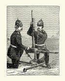 78279,94456,Magazine - Firearms,Gatling Gun,Vertical,The Past,Conflict,Black And White,UK,European Culture,Woodcut,Victorian Style,Army,Old-fashioned,Loading,British Military,Old,Gun,Engraved Image,British Culture,Illustration,Obsolete,Armed Forces,Ammunition,Styles,Cultures,Weapon,Antique,19th Century Style,War,History,Shooting a Weapon,Military,Machine Gun,Battle,Gardening,Army Soldier,Physical Activity,Photography,English Culture,Print,Lifestyles,19th Century,Old,Bullet
