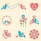 Wedding,Single Flower,Bird,Cute,Heart Shape,Dove - Bird,Love,Banner,Design Element,Valentine's Day - Holiday,Vector,Couple,Tulip,Sparse,Freedom,Animated Cartoon,Romance,Christianity,Dreamlike,Set,Religion,Placard,Peace Symbol,Summer,Decoration,Poster,Paintings,Happiness,Togetherness,Playful,Square