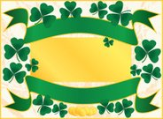 St. Patrick's Day,Clover,Religion,Backgrounds,Luck,Christianity,Illustrations And Vector Art,Holidays And Celebrations,Vector Backgrounds,Gold,Vector,Gold Colored,Frame,Coin