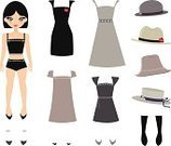 Paper Doll,Doll,Dress,Clothing,Getting Dressed,Little Girls,Women,Teenage Girls,Vector,Fashion,Manga Style,Hat,Shoe,Personal Accessory,Ilustration,High Heels,Beautiful,Fashion,Vector Cartoons,People,Illustrations And Vector Art,Beauty,Beauty And Health