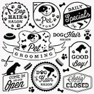 No People,Illustration,Business Finance and Industry,Pets,Dog,Business,Vector,Badge