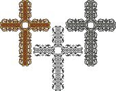 Cross,Catholicism,Christianity,Decoration,Ornate,Crucifix,Religion,Spirituality,Elegance,Computer Graphic,Vector,Illustrations And Vector Art,Vector Ornaments,Design Element,Shape,Religious Icon,Ilustration,Symbol
