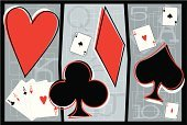 Cards,Heart Shape,Ace,Animal Heart,Leisure Games,Backgrounds,Design Element,Vector,Spade Suit,Club Suit,Symbol,Diamond Suit,Illustrations And Vector Art,Black Color,Red,Ilustration,Gray