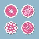 No People,Flower,Plant,Collection,Illustration,Nature,Icon Set,Computer Icon,Symbol,Decoration,Blossom,Vector