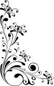 Flower,Floral Pattern,Black And White,Decoration,Pattern,Swirl,Computer Graphic,Abstract,Scroll Shape,Black Color,Vector,Curled Up,Isolated,Design Element,Leaf,Botany,Nature,Beautiful,Vector Florals,Vector Ornaments,Illustrations And Vector Art,Shape,Curve,Creativity