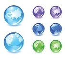 Globe - Man Made Object,Earth,Glass - Material,Green Color,Sign,Purple,Planet - Space,Sphere,Interface Icons,Symbol,Blue,Computer Icon,Vector,Shiny,Reflection,Canada,Australia,The Americas,USA,continents,Europe,Computer Graphic,Asia,Pacific Ocean,Atlantic Ocean,Ilustration,countries,Vector Icons,Nature Symbols/Metaphors,Nature,Illustrations And Vector Art