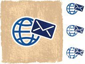 E-Mail,Globe - Man Made Object,Old-fashioned,Mail,Vector,Envelope,Sphere,Dirty,Grunge,Damaged,Computer Graphic,Torn,Distressed,Air Mail,Planet - Space,Digitally Generated Image,Unhygienic,Wood Stain,Scratched,Obsolete,Ilustration,Stained