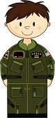 Military,Armed Forces,Cartoon,Pilot,Air Force,Uniform,Airplane,Military Airplane,Men,Vector,Cute,War,Characters,Clip Art,US Air Force,Zipper,Badge,Flag,Battle,One Person,Ilustration,USA,Green Color,Brown Hair,Isolated,Pocket,Star Shape,Flight Suit,Smiling,People,Courage,Conflict,Illustrations And Vector Art,Vector Cartoons