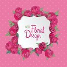 Celebration,Romance,Day,Love,Ornate,Template,Thank You,Summer,Illustration,Nature,Postcard,Greeting,Flower Head,Inviting,Peony,Invitation,Backgrounds,Vector,Label,Red,Pink Color,Spotted,Polka Dot