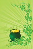 Clover,St. Patrick's Day,Herb,Green Color,Celtic Culture,Branch,Vector,Petal,Gold,Irish Culture,Plant,Decoration,Design,Backgrounds,Ilustration,Scroll Shape,Luck,Leaf,Cooking Pan,Saint,Springtime,Holiday,Nature,Season,Holiday Symbols,Image,Holiday Backgrounds,Holidays And Celebrations,Wallpaper Pattern,Yellow,Summer