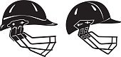 Cut Out,Variation,Protection,No People,Sport of Cricket,Recreational Pursuit,Equipment,Leisure Activity,Collection,Pair,Illustration,Leisure Games,Sport,Sports Team,Manufactured Object,Sports Helmet,Vector,Group Of Objects,Side View,Viewpoint,Work Helmet,Headwear,Black Color