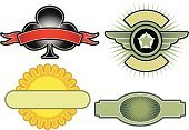 Artificial Wing,Wing,Insignia,Air Force,Sign,Star - Space,Shield,Armed Forces,Coat Of Arms,Sunflower,Symbol,Label,Certificate,Medal,Exploding,Medallion,Award,Patriotism,Flower,Sun,Club Suit,template,Scroll,Decoration,Illustrations And Vector Art