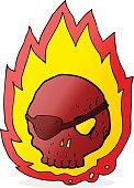Bizarre,Sign,Doodle,Cute,Cheerful,Illustration,Pirate - Criminal,Fire - Natural Phenomenon,Clip Art,Drawing - Activity,Burning,Vector,Tattoo