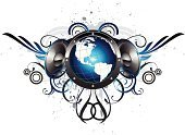 Music,Speaker,Globe - Man Made Object,Earth,Funky,Planet - Space,Stereo,City Life,Audio Equipment,Urban Scene,Bass,Design Element,Growth,Swirl,USA,Inspiration,Decor,Concepts,Audio Electronics,flourishes,Ornate,Ink Splatter,Concepts And Ideas,Ideas,graphic elements,Illustrations And Vector Art,Inkblot,Vector Icons,Map,paint splatter,Technology,spatter,Electronics
