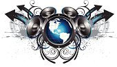 Speaker,Music,City Life,Stereo,Earth,Urban Scene,Globe - Man Made Object,Planet - Space,Audio Equipment,Map,Design Element,Arrow Symbol,Swirl,USA,flourishes,Sphere,Ornate,Growth,Bass,Inkblot,Decor,Communication,Electronics,Ink Splatter,Vector Icons,Concepts And Ideas,Illustrations And Vector Art,Ideas,paint splatter,spatter,graphic elements,Technology,Concepts