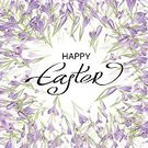 Celebration,Creativity,Computer Graphics,Day,Love,Template,Illustration,Nature,Easter,Computer Graphic,Decoration,Snowdrop,Backgrounds,Crocus,Bouquet,Vector,Multi Colored,Greeting,Pattern,Purple
