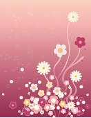 Daisy,Flower Bed,Wildflower,Pink Color,Flower,Silk,Pattern,Daisy Family,Japan,Vector,Backgrounds,Floral Pattern,Bubble,Blooming,Nature,Growth,China - East Asia,Design,Ilustration,Silk,East Asia,Romance,Spray,Uncultivated,Spotted,Gardens,Travel Locations,Red,Nature