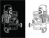 Musical Instrument,Jazz,Hippie,Saxophone,Blues,Musician,Saxophonist,Vitality,Music,Vector,Blowing,Community,Playing,Performance,Backgrounds,Drawing - Art Product,Performer,Tripping,Evil,Men,Sound,Pencil Drawing,Paintings,Ilustration,Music,Arts And Entertainment,Treble,Painted Image,Illustrations And Vector Art,Male,Art,People,Vector Cartoons,Rough,Dark,Painterly Effect,Inferno,One Person,Sketch