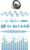 Sound Wave,Music,Sound,Sound Mixer,Recording Studio,Speaker,Audio Equipment,Vector,Sound Recording Equipment,Backgrounds,Design Element,Ilustration,Blue,Treble,Vector Icons,Music,Arts And Entertainment,Illustrations And Vector Art