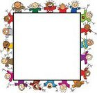 Child,Cartoon,Frame,Friendship,Cheerful,People,Happiness,Multi-Ethnic Group,Group Of People,Children Only,Vector,Teamwork,Unity,Arms Raised,Copy Space,Global Village