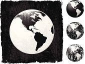 Globe - Man Made Object,Dirty,Planet - Space,Grunge,Sphere,Old-fashioned,Map,Vector,USA,North America,Distressed,Cartography,The Americas,Digitally Generated Image,South America,Computer Graphic,Intricacy,Ilustration,Torn,Wood Stain,Damaged,Accuracy,Stained,Scratched