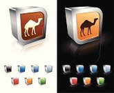 Camel,Symbol,Red,Desert,Vector,Three-dimensional Shape,Computer Icon,Sparse,Computer Graphic,Hump,Black Background,Animal,White Background,Orange Color,Modern,Digitally Generated Image,Reflection,Empty,Shiny,Blue,Metal,Green Color