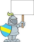 Adult,Humor,Men,Warrior - Person,Message,Sign,Cartoon,Illustration,People,Metal,Medieval,Shield,Clip Art,Fun,Knight - Person,Vector,Suit of Armor