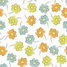 No People,Flower,Daisy,Plant,Petal,Summer,Wildflower,Illustration,Nature,Outline,Seamless Pattern,Small,Backgrounds,Uncultivated,Vector,Springtime,Multi Colored,Pattern,Floral Pattern
