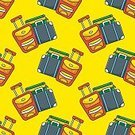 Retro Styled,No People,Wallpaper,Cartoon,Illustration,Seamless Pattern,Travel,Backgrounds,Vector,Design,Multi Colored,Pattern,Luggage,Vacations