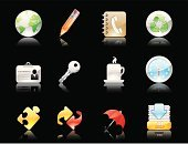 Symbol,Computer Icon,Icon Set,Key,Internet,Telephone Directory,Puzzle,backup,Shiny,Umbrella,Black Background,Identity,ID Card,Pencil,Web Page,Recycling,Inbox,Push Button,Interface Icons,Clock,Vector,Jigsaw Piece,Reminder,Sparse,Time,Green Color,Sticky,Color Image,Remote,Coffee Cup,Set,Ilustration,Adhesive Note,Modern,Colors,Web 2 0,Illustrations And Vector Art,Isolated Objects,Design Element,Planet - Space,Technology,Recycling Symbol,Reflection