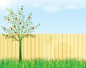 Abstract,Growth,No People,Flower,Computer Graphics,Plant,Outdoors,Summer,Front or Back Yard,Wood - Material,Illustration,Nature,Sky,Woodland,Computer Graphic,Sunny,Sunlight,Gardening,Backgrounds,Blossom,Floral,Tree,Lifestyles,Grass,Fence,Sun,Vector,Springtime,Sun,Pattern,Green Color