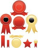 Label,Seal - Stamp,Certificate,Award Ribbon,Award,Perks,Red,Gold Colored,Badge,Banner,Medal,Ribbon,Celebration,Computer Icon,Incentive,Vector,Design,Winning,Placard,Icon Set,Sport,Competition,Shiny,Success,Design Element,Set,First Place,Color Gradient,Second Place,Third Place,Competitive Sport