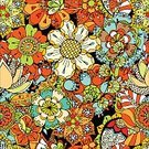 Abstract,Repetition,Color Image,Computer Graphics,Doodle,Beauty,Beautiful People,Illustration,Nature,Leaf,Single Flower,Computer Graphic,Seamless Pattern,Decoration,Backgrounds,Blossom,Floral,Beauty In Nature,Vector,Flourish,Pattern,Floral Pattern,Colors