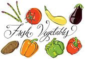 Ilustration,Vegetable,Asparagus,Bell Pepper,Food,Tomato,Calligraphy,Raw Potato,Ingredient,Red,Squash - Vegetable,Organic,Freshness,Green Color,Food And Drink,Raw Food,Food Backgrounds,Fruits And Vegetables,Ripe,Raw Food,Green Bell Pepper,Red Bell Pepper,Orange Bell Pepper,Nutrient
