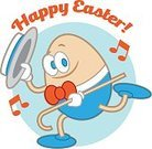 Egg,Greeting Card,Cartoon,Illustration,Mascot,Easter,Happiness,Animated Cartoon,Easter Egg,Smiling
